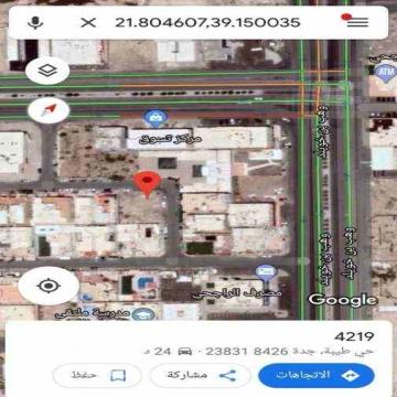 -                          للبيع ارض في حي طيبة على شارعين رئيسية...