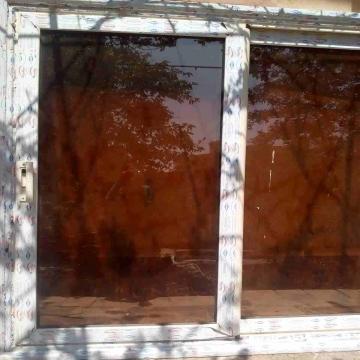 -                          لقطة شباك الوميتال زجاج بنى عاكس خامة...