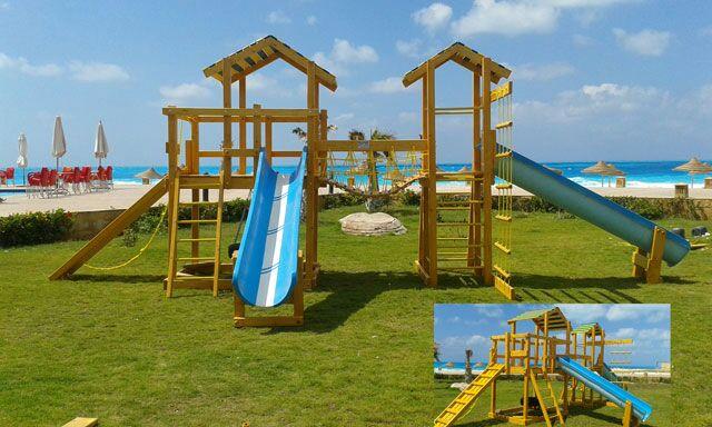 Wooden Playground equipment . ألعاب خشبية...