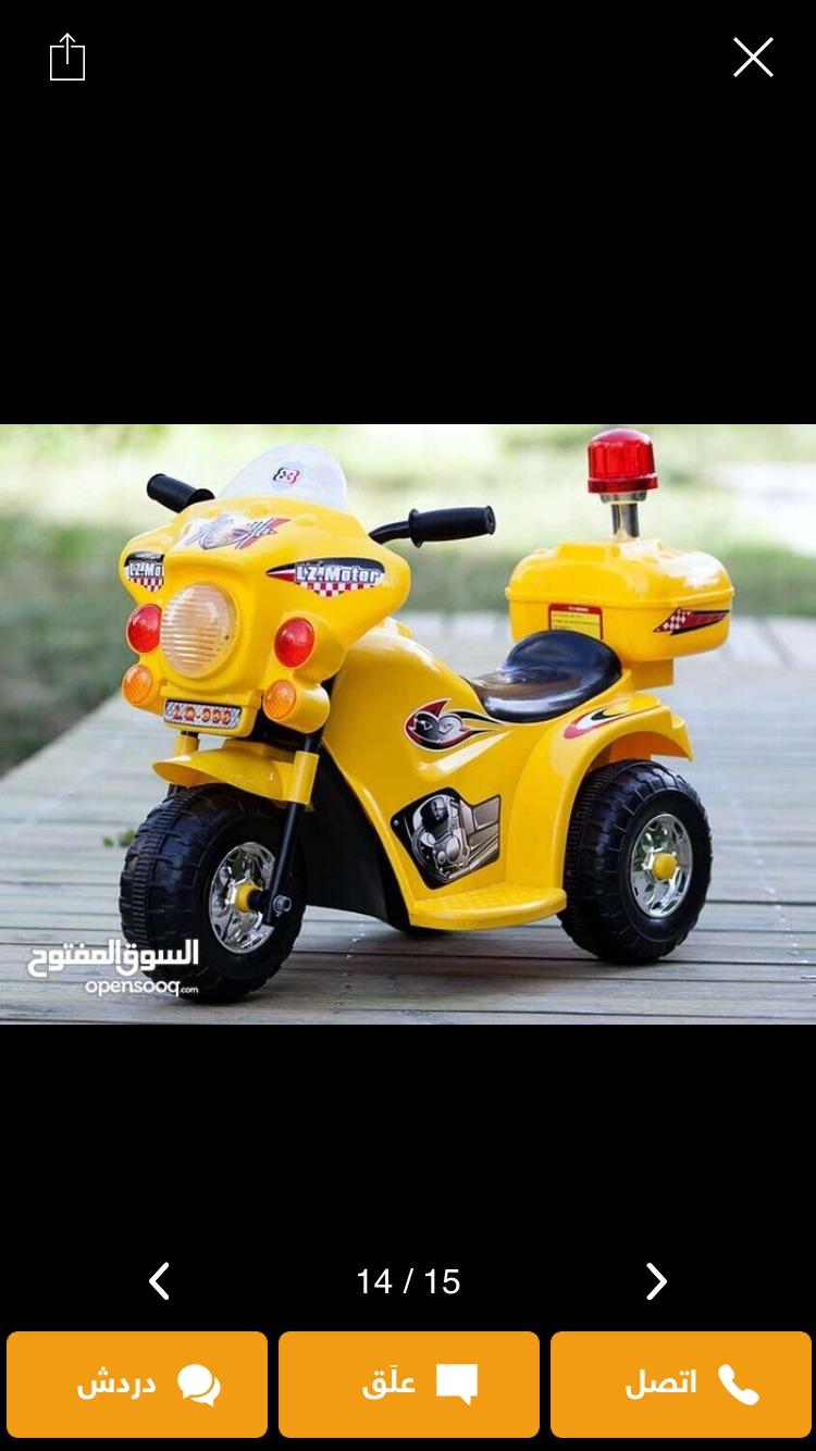 للبيع سيارة كهربائية-  دراجه شحن 3 عجلات للاطفال...