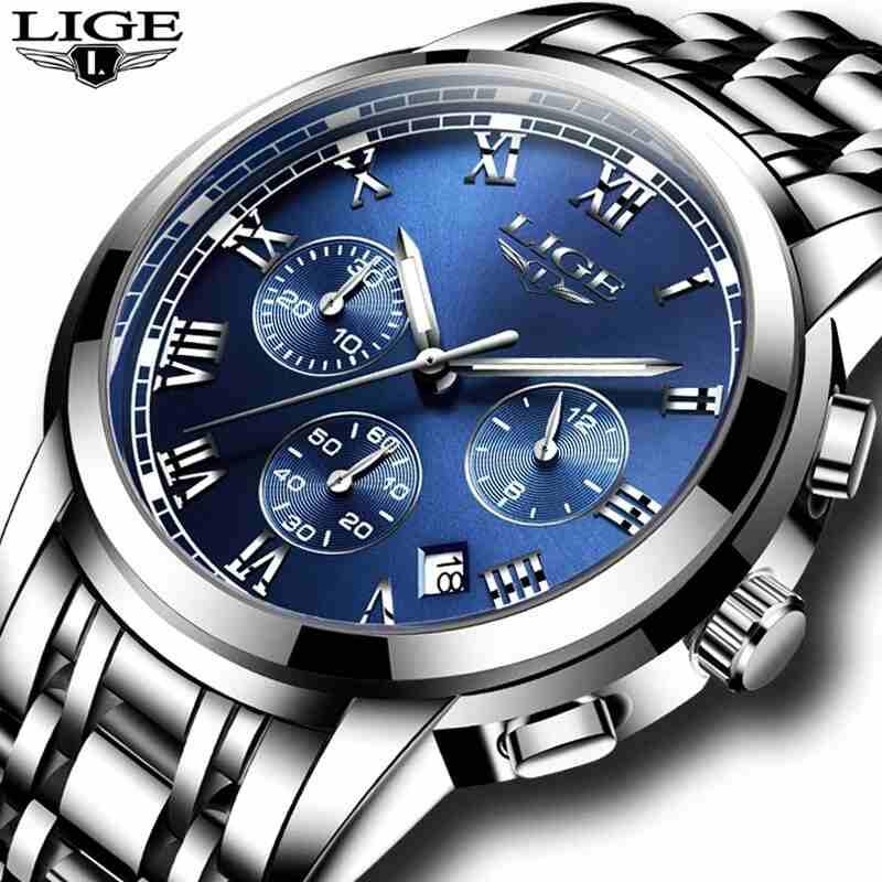 Omega Royal Blue Deville-  ساعة LIGE العصرية مع...