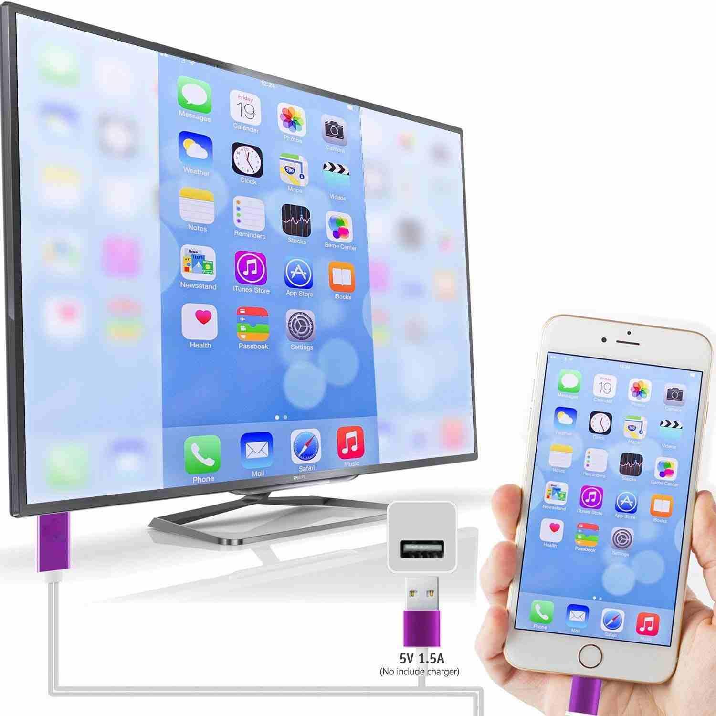 وصلات HDMI لعرض الايفون والاندرويد على...