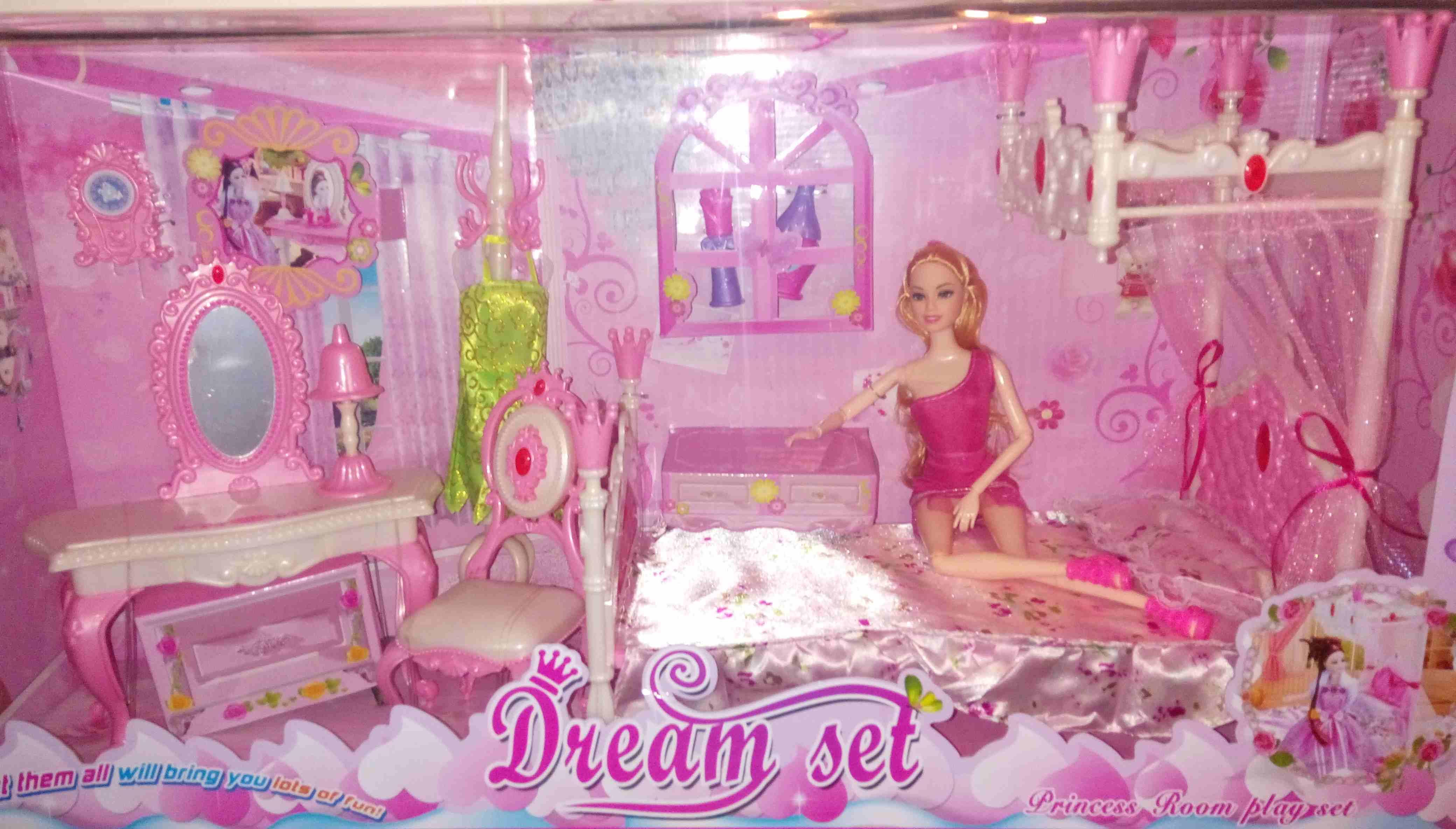 Trampoline Available-  لعبة غرفة النوم ل باربي...