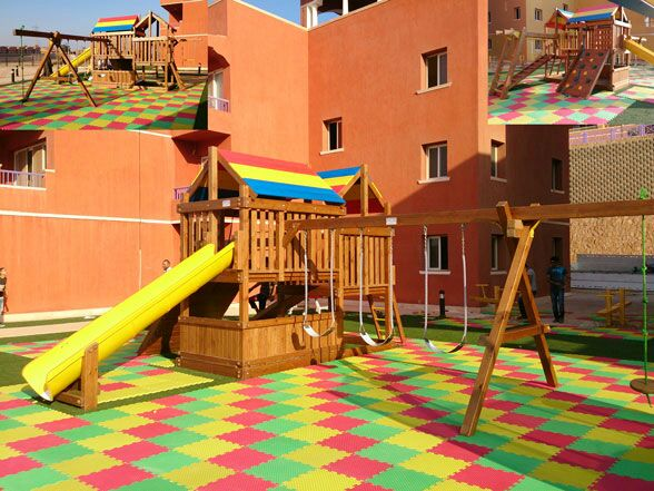 Wooden Playground equipment . ألعاب خشبية...