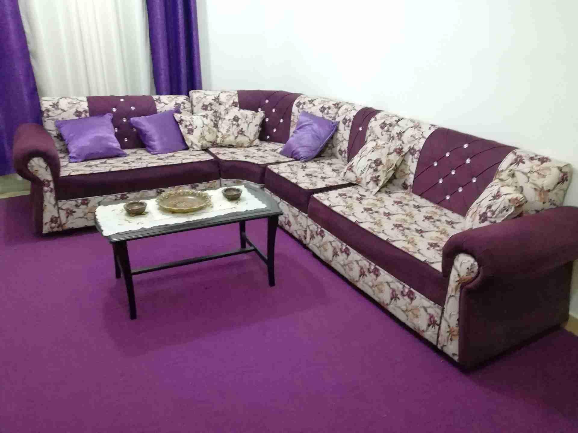 all new furniture-  كنب كورنر 7 مقاعد استعمال...