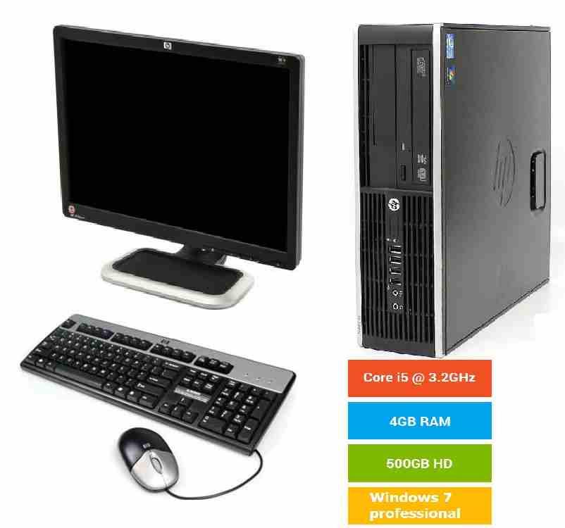 كمبيوتر قيمنق مع (شاشة4K) وكيبورد وماوس و ماوس بات-  أجهزة كمبيوتر Hp كور آي 5...
