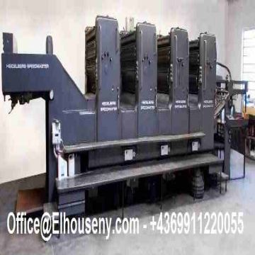 -  ماكينة طباعة هايدلبرج سبيد ماستر 4 لون موديل 1987   HEIDELBERG...