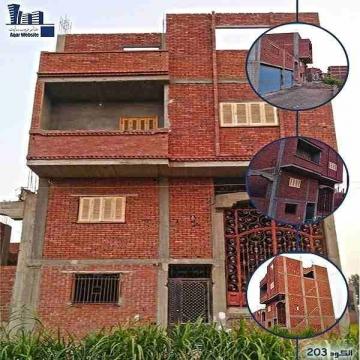 - منزل للبيع ( كود 203 )  منزل للبيع واجهة 7 نمرة من  شارع رئيسى...