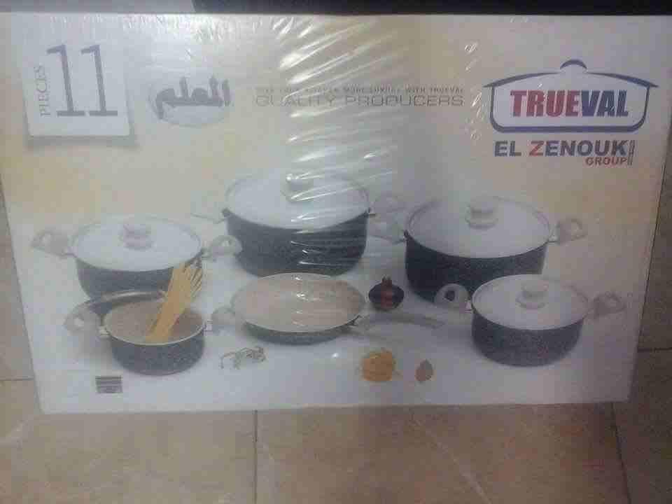 طقم 11قطعه حلل جرانيت اصلى تروفال الزنوكي...