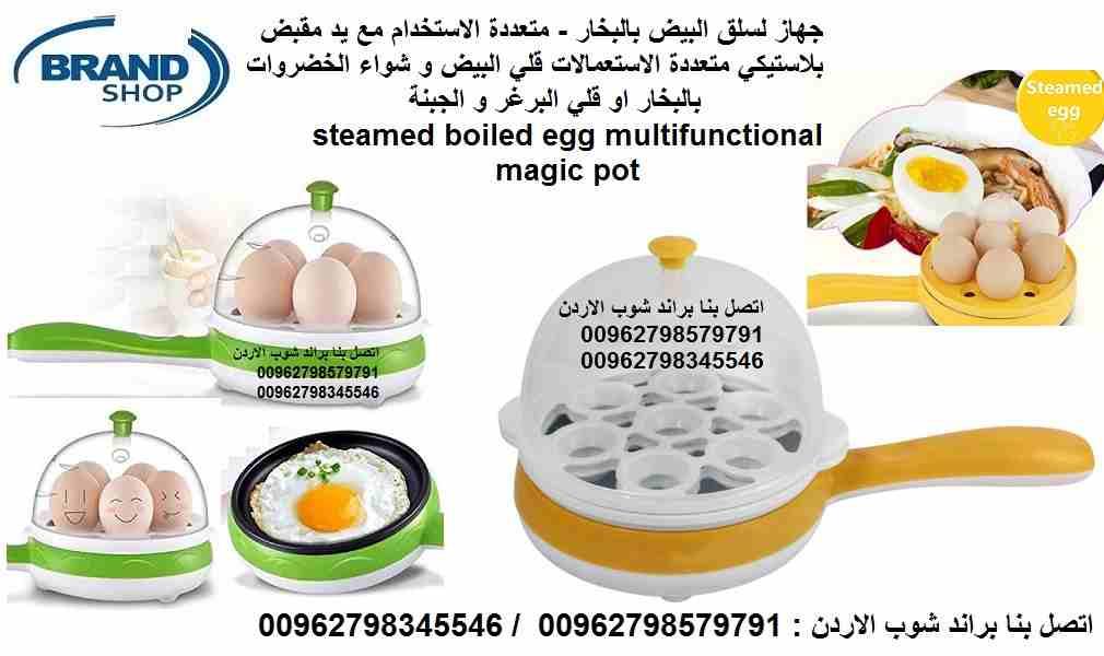 جهاز لسلق البيض بالبخار - متعددة الاستخدام مع يد مقبض بلاستيكي...