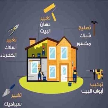 - الصيانة العامة  ولاننا نسعى لتقديم الافضل لكم  الأعمال...