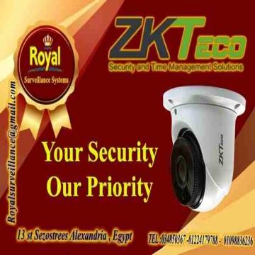 - احدث كاميرات مراقبة داخلية بالاسكندرية  ماركة ZKTECO يسعد شركة...