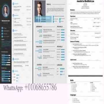 - سيرة ذاتية CV + ادخال بياناتك راسلني واتس اب  201068655786+