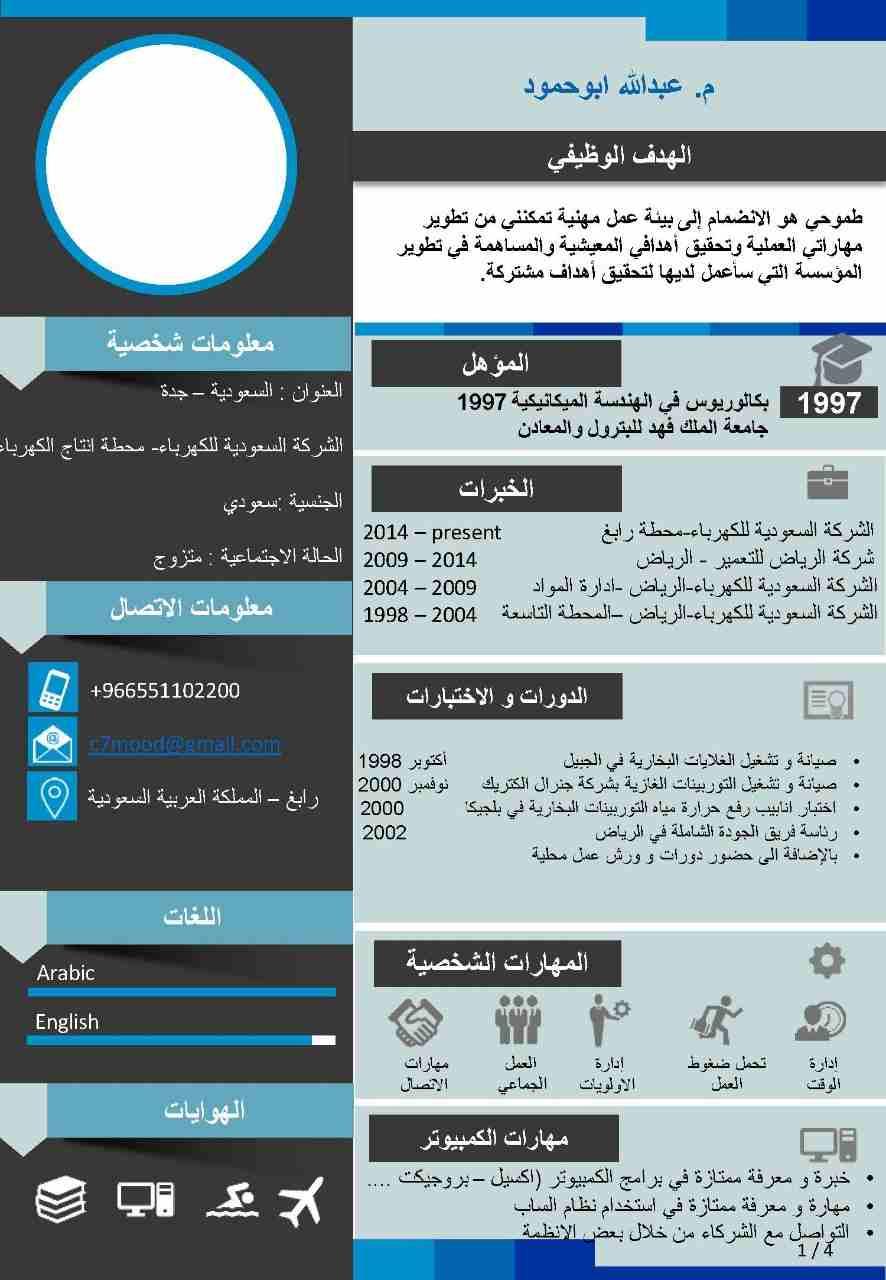 الخبرات  الشركة السعودية للكهرباء-محطة رابغ 2014 –present...