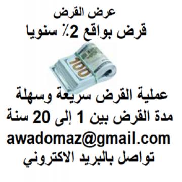 - هل تحتاج إلى قرض لتمويل مشروعك ؟، قرض لتوسيع أو تأسيس عملك...