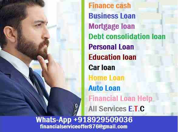 Are you looking for a loan to clear off your dept and start up your own Business? have you being going all over yet not able to get a legit loan Company that wi-  Do you need Finance? Are...