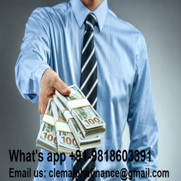 Help for serious people who need money for all types of activities or projects. If you are really interested, contact us by email: clemalphafinance@gmail.com. W- -  Help for serious people who need money for all types of...