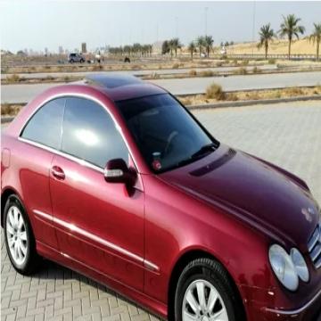 Mercedes CLK280-V6-2006-GCC- - مرسيدس CLK280، ستة اسطوانات، موديل 2006، مواصفات خليجي، ممشى...