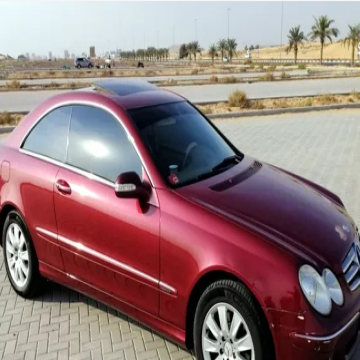 Mercedes CLK280-V6-2006-GCC- - مرسيدس CLK280  ستة اسطوانات  موديل 2006  مواصفات خليجي، ممشى...
