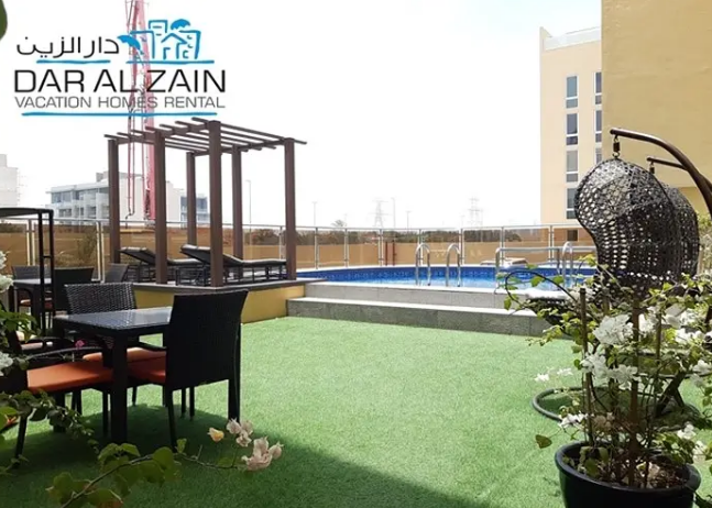 MONTHLY Fully Furnished Studio In Building Including Elect. Water & Wifi In Hamdan Street Near Al Hosn 4500-  FULLY FURNISHED 2 BR...