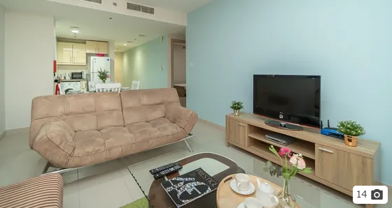 Fully Furnished Luxury Studio next to Bay Square Monthly-  دبي البرشاء جنوب غرفتين...