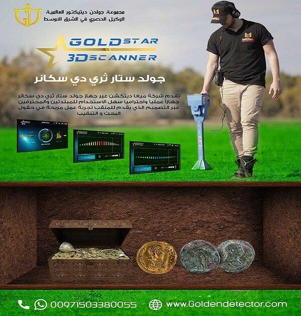 احدث التقينات العالمية لكاشفات الذهب الخام مع جهاز كشف الذهب والكنوز الذهبية جي بي زد 700-  جولد ستار ثري دي سكانر...