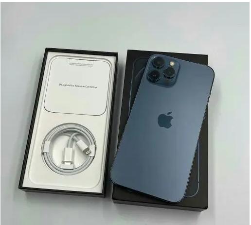 New Sealed Unlocked Apple iPhone 12 Pro Max - 256GB - Gold (Unlocked)-  ايفون 12 برو ماكس أزرق...